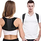 Posture Corrector For Men And Women, Adjustable Upper Back Brace For Clavicle Support, Thoracic Kyphosis and Providing Pain R