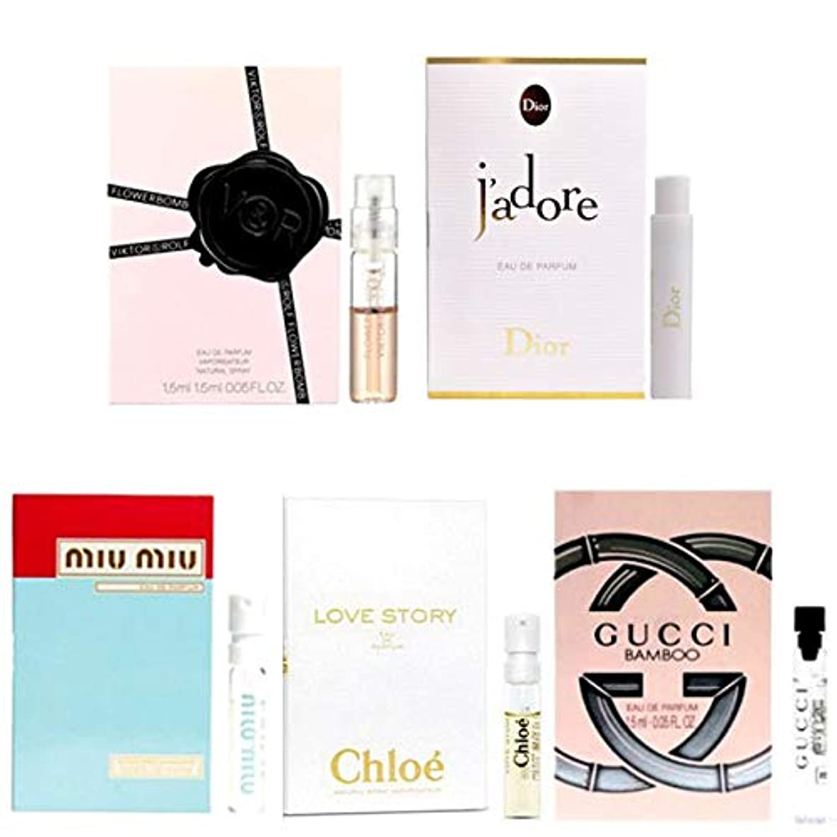 レジベース中で女性用 Eau de Parfum (Eau de Toilette) For Women Samples 5/set [海外直送品] [並行輸入品]