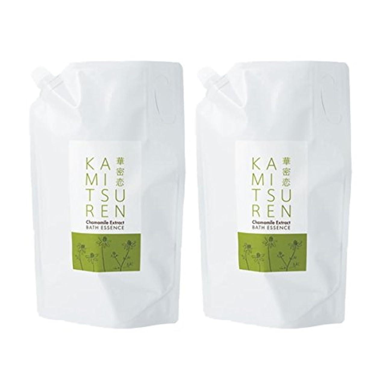 作物勘違いする技術華密恋 薬用入浴剤 特大 詰替え用 (新パッケージ) 1500mL(1.5L)×2袋セット