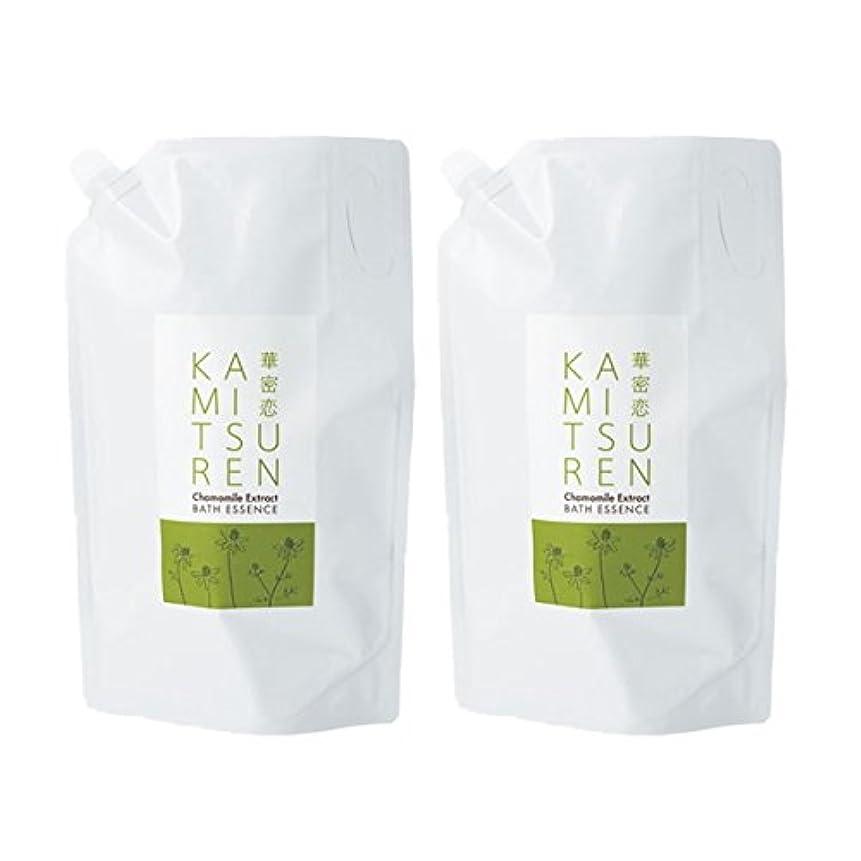 銛代わりにを立てる蒸発華密恋 薬用入浴剤 特大 詰替え用 (新パッケージ) 1500mL(1.5L)×2袋セット