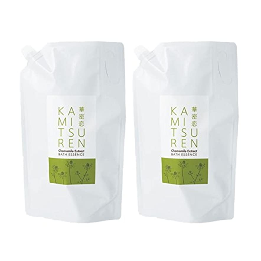 固体特徴づけるリスク華密恋 薬用入浴剤 特大 詰替え用 (新パッケージ) 1500mL(1.5L)×2袋セット
