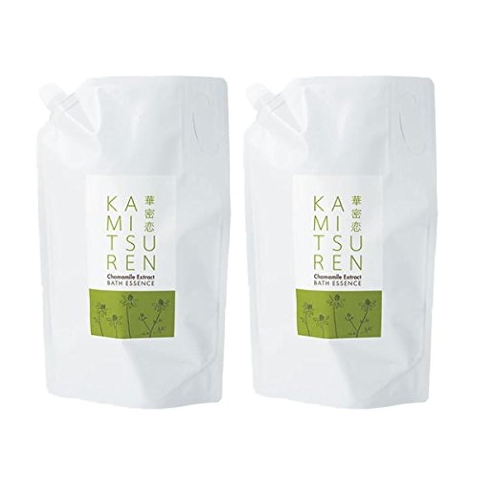 広範囲に項目破裂華密恋 薬用入浴剤 特大 詰替え用 (新パッケージ) 1500mL(1.5L)×2袋セット