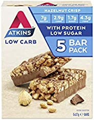 Atkins Chocolate Hazelnut Crisp Bars | Keto Friendly Bars | 5 x 37g Low Carb Chocolate Hazelnut Bars | Low Car