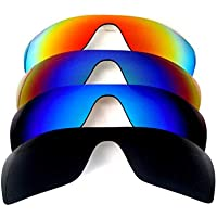Galaxylense Men's 4 Pairs Replacement Lenses For Oakley Batwolf Black/Blue/Green/Red Polarized