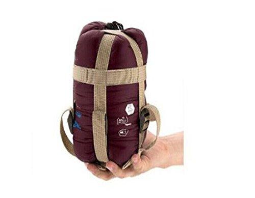NatureHike-NH 軽量 封筒型 シュラフ 寝袋 キャンプ アウトドア 最低使用温度9度 ・同モデルの同サイズであれば、連結可能 (ワイン)