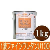 【弊社小分け商品】ニッペ 1液ファインウレタンU100 ホワイト(ND-101) つや有り [1kg] 日本ペイント・鉄部・木部・モルタル・多目的油性塗料