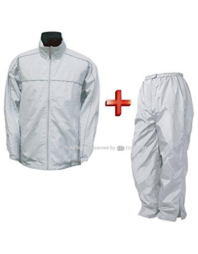 トオケミ(TOHKEMI) REXジャケット(#5751 Lサイズ シルバー) + アドバンスパンツ(#402 Lサイズ シルバー) セット