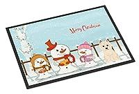 """メリークリスマスキャロラーウェスティ屋内または屋外マットBB2373MAT""""多色 60x40cm"""