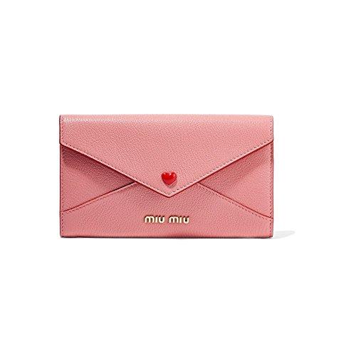 (ミュウミュウ) Miu Miu レディース 財布 Envelope textured-leather wallet [並行輸入品]