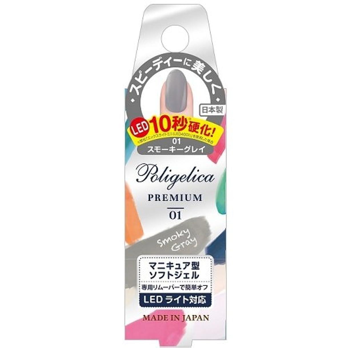 邪魔する教スプーンBW ポリジェリカプレミアム カラージェル 1001/スモーキーグレイ (6g)