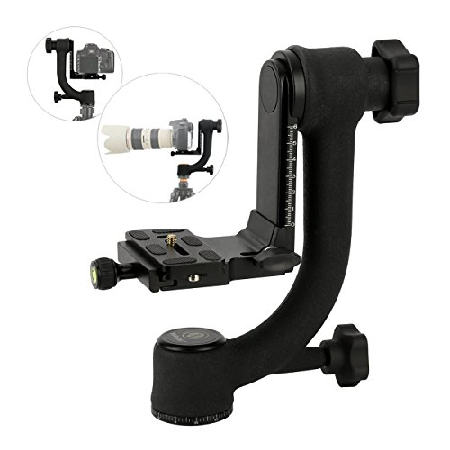 [해외]TARION® Q45 SLR 카메라 짐벌 운대 Gimbal Tripod Head 파노라마 볼 운대 볼 헤드 프로 포토 텔레 헤드 삼각대 카메라 360도 회전 가능한 수준기있는 퀵 기능 회전 각도 보정 알루미늄 조류 촬영에 초망원 렌즈/TARION® Q45 SLR Camera Gimbal Tri...