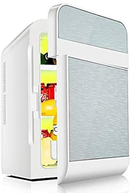 オンス準備するパーティーミニ冷蔵庫ポータブル20Lカー冷蔵庫、ミニ学生寮冷蔵庫、カーホームデュアルユース、冷凍/フレッシュ/暖房をしてください,Silver,dual core