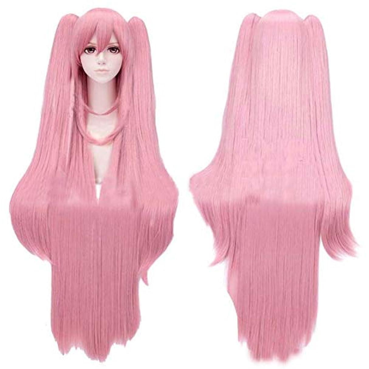 不規則性報酬の例100センチロングピンクストレートウィッグアニメコスプレウィッグピンクアニメ女性コスプレウィッグ用女性女の子衣装パーティーハロウィンアニメコスプレファンシードレス