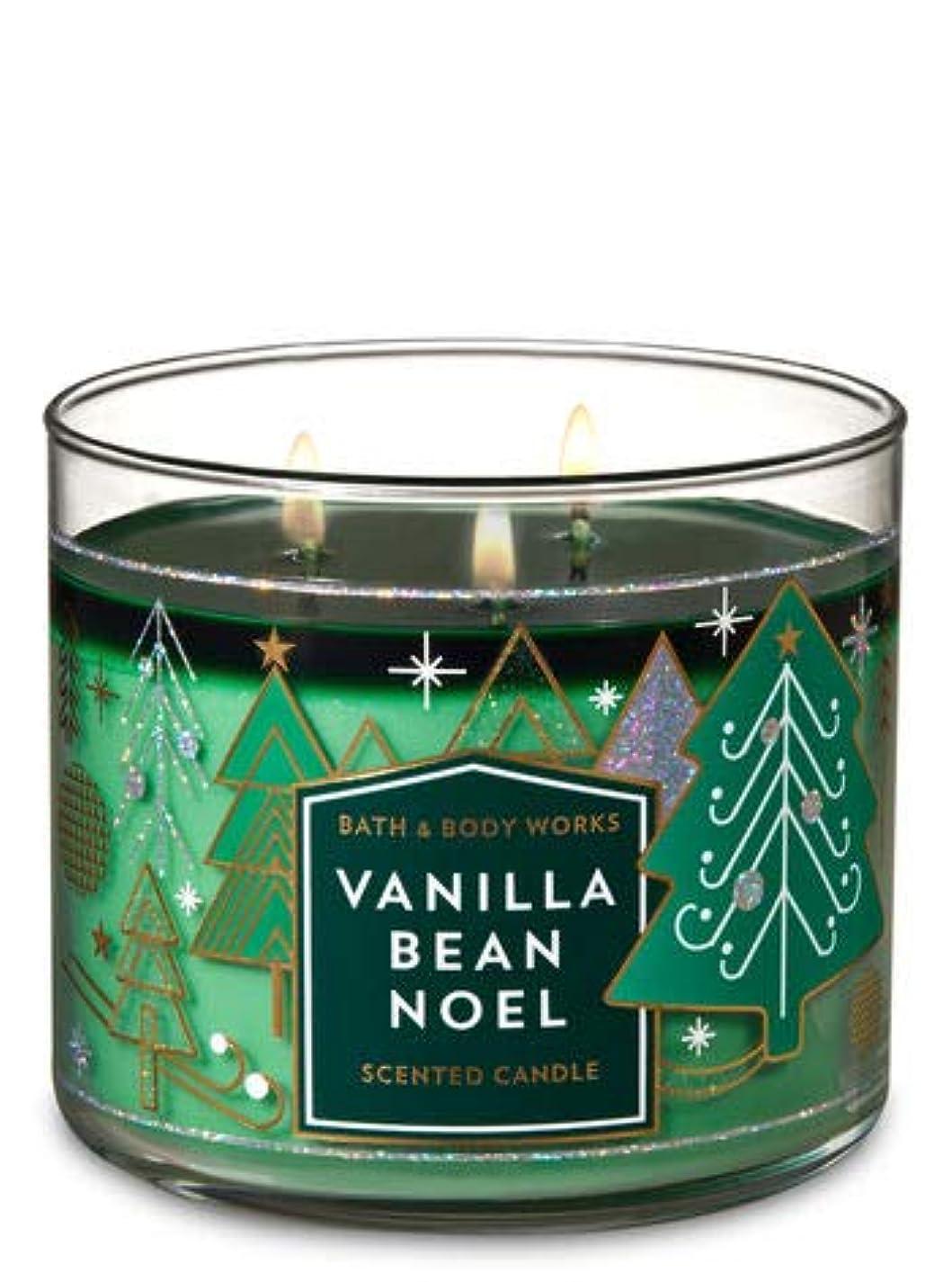 一月ブランチ相対的【Bath&Body Works/バス&ボディワークス】 アロマキャンドル バニラビーンノエル 3-Wick Scented Candle Vanilla Bean Noel 14.5oz/411g [並行輸入品]