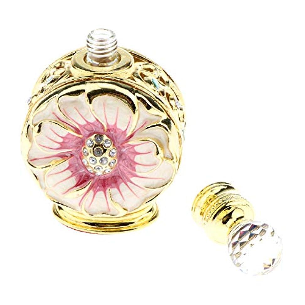 借りるオリエンタル不可能な香水ボトル 香水瓶 華やか コスメ 小分け容器 旅行 便利 手作り 2色選べ - レッドゴールド