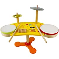 木製のおもちゃベビーチャイルドベビーアーリー教育ボーカルビートベントドラムドラム