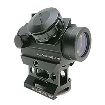 [AERITH BLACK] Micro T-1 タイプ 11段階調光 レッド ドットサイト ダットサイト 20mm レイル対応 ハイマウント 付属 T1 N0108 BK