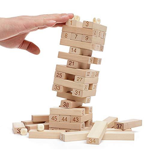 48枚セット 木製 積み木 ブロック 原木 無着色 子供用 スタッキング バランスゲーム 知育玩具 プレゼント