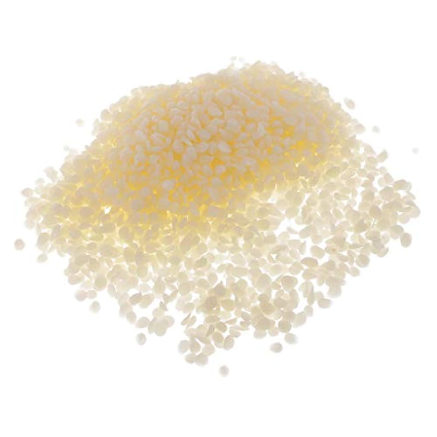 プラカード断片偽dailymall オーガニック ピュアホワイト ミツロウ ペレット 粒状 リップクリーム 化粧品原料 約100g