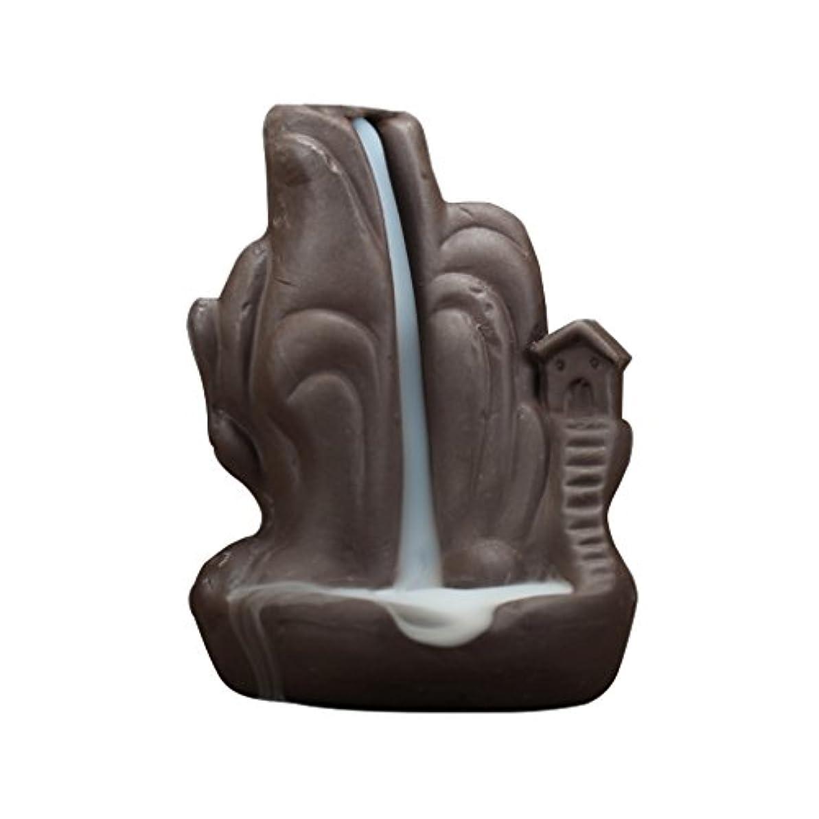 脅威スチュワード欠かせないセラミック 香炉 繊細 絶妙 デザイン 逆流香 香炉 コーンホルダー 古典的 装飾 全4種 - 褐色, 説明したように