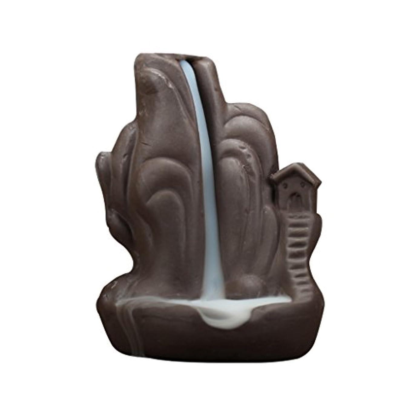 情熱的シティ竜巻セラミック 香炉 繊細 絶妙 デザイン 逆流香 香炉 コーンホルダー 古典的 装飾 全4種 - 褐色, 説明したように