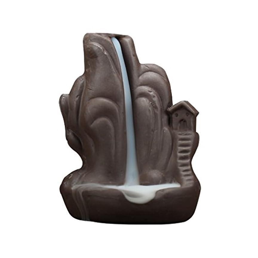 報いるどのくらいの頻度で間セラミック 香炉 繊細 絶妙 デザイン 逆流香 香炉 コーンホルダー 古典的 装飾 全4種 - 褐色, 説明したように