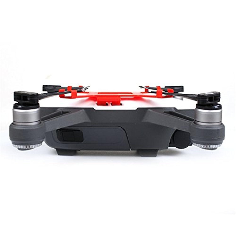 Djiスパークfpvレーシングドローンrc quadcopter diyアクセサリープロペラ小道具ブレードフィクサーホルダーマウント保護ガード交換部品-赤い