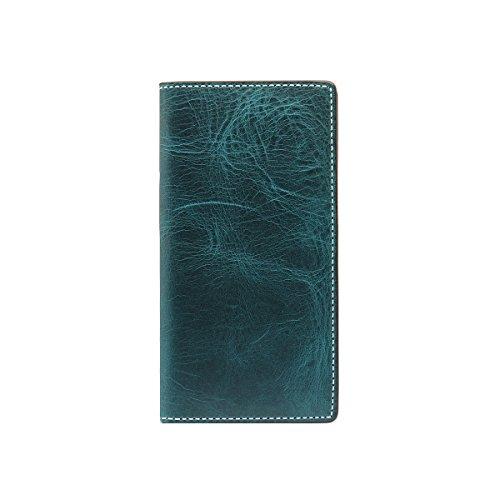 SLG Design iPhone X ケース 手帳型 本革 Badalassi Wax case グリーン(バダラッシーワックスケース)アイフォン カバー レザー 5.8インチ【日本正規代理店品】 SD10520i8