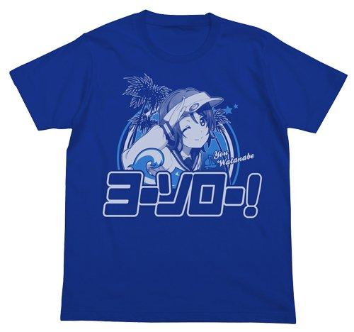 ラブライブ!サンシャイン!! 渡辺曜 エモーショナルTシャツ ロイヤルブルー Mサイズ