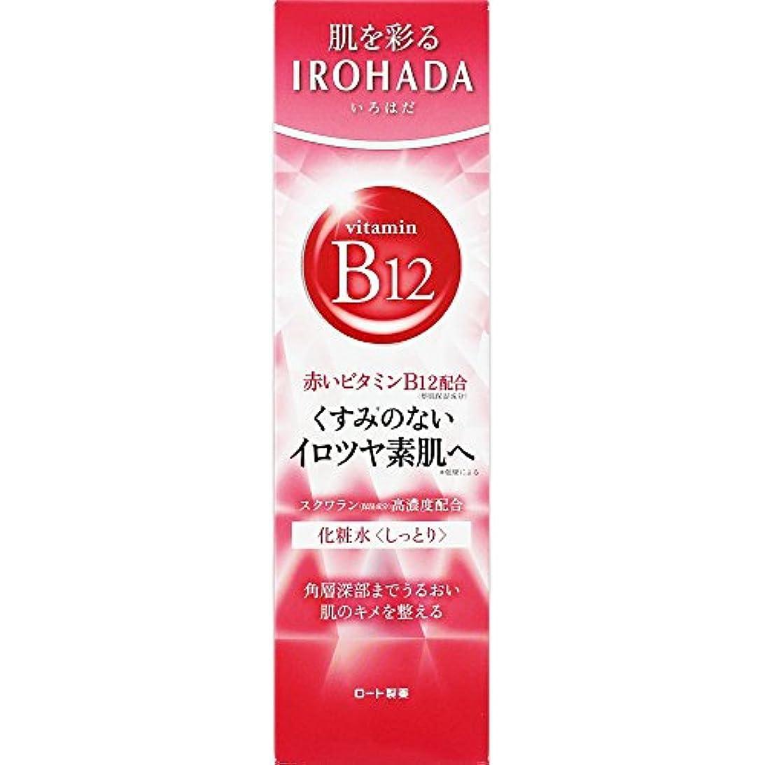 複製スクリーチ毒ロート製薬 いろはだ (IROHADA) 赤いビタミンB12×スクワラン配合 化粧水しっとり 160ml