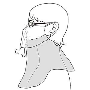 UVカット防寒マスク ネックウォーマー NukuNukuぬくぬくヤケーヌ (971グリーン×ブルー)