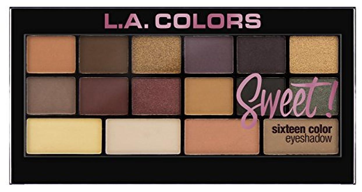 ゆり馬鹿げた楕円形L.A. Colors Sweet! 16 Color Eyeshadow Palette - Seductive (並行輸入品)