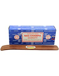 Satyaバンガロール(BNG) Nag Champa argarbatti 250グラムwith (Govinda Incense Holder)
