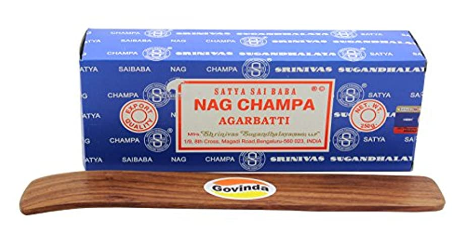 個人鯨毛細血管Satyaバンガロール(BNG) Nag Champa argarbatti 250グラムwith (Govinda Incense Holder)