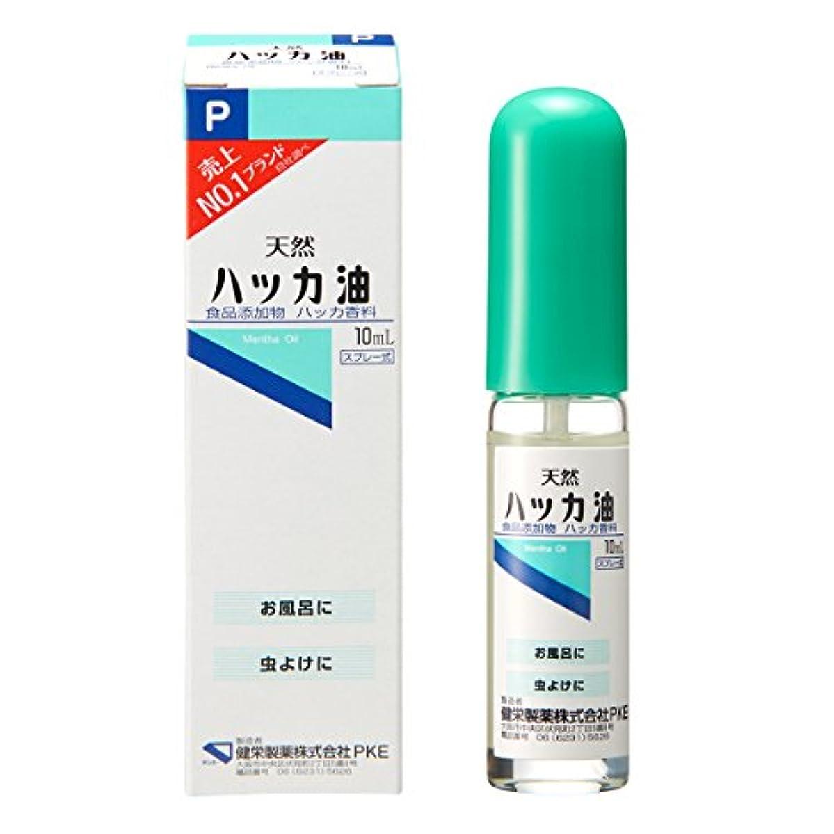 正確なコンペアンプ【食品添加物】ハッカ油Pスプレー 10ml(アロマ?お風呂?虫よけ)