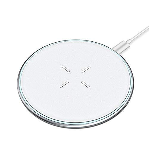 ワイヤレス充電器 Qi 急速充電 超薄型 VANMASS 滑り止め 置くだけ充電 5W/7.5W/10W Qi認証済み iPhone 8/X/XS/XR Android/GalaxyS9/S9+/S8/S8+ その他Qi対応機種(ホワイト)