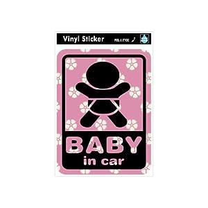 ゼネラルステッカー SK-119 Baby in car-和柄1
