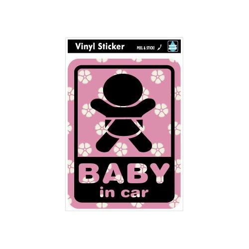 ゼネラルステッカー SK-119 Baby in car-和柄1イメージ