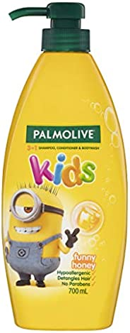 Palmolive Kids 3 in 1 Hypoallergenic Hair Shampoo, Conditioner & Body Wash Minions Funny Honey Detangles H