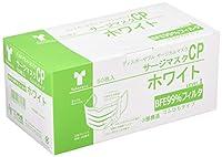 竹虎 サージマスクCP 樹脂製ノーズブリッジ ホワイト 50枚入×60箱 076161