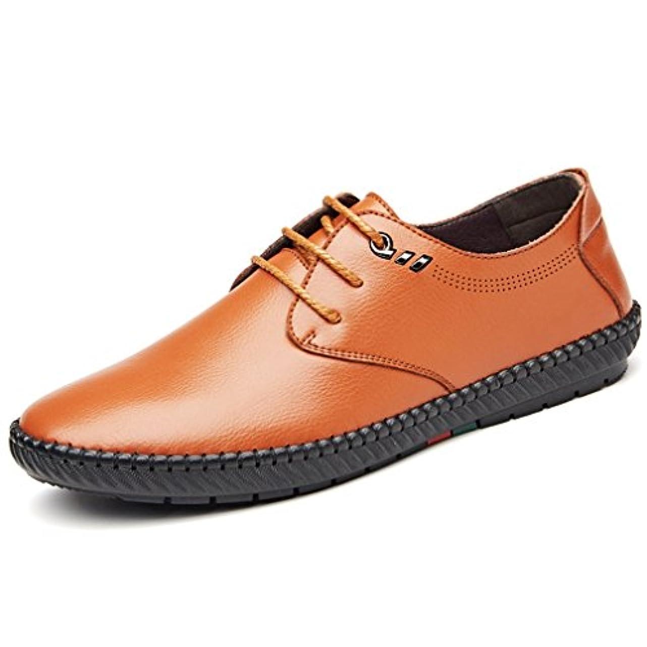 大学院西面白い[イノヤ]メンズ 本革 ビジネスシューズ カジュアルシューズ 革靴 レースアップ モカシンシューズ 父の日 ローカット カジュアル靴 歩きやすい おしゃれ 耐摩耗性 立ち仕事靴 通勤 防滑 黒 ブラウン カーキ色