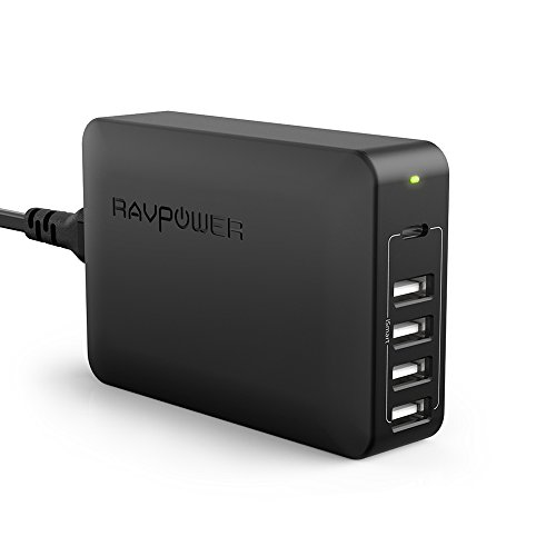 RAVPower USB-C充電器 Power Delivery 60W 5ポート ( MacBook / iPhone / Android 各種対応) RP-PC059 ブラック