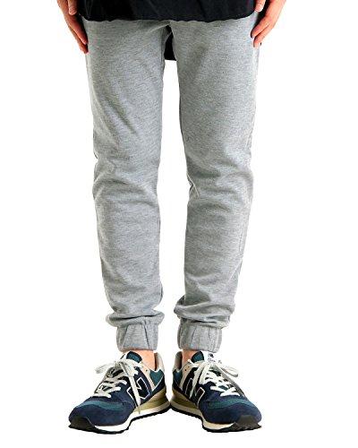 (バレッタ) Valletta ジップポケット付 スウェット ジョガーパンツ ストレッチ スキニー メンズ グレー XLサイズ