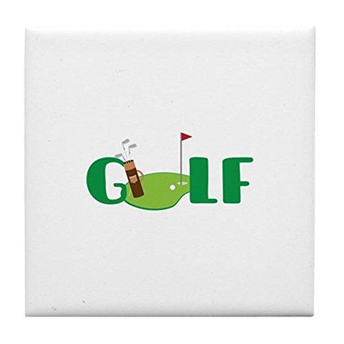 CafePress–ゴルフクラブ–タイルコースター、...
