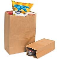 Box Partners BGG120K 12 in. x 7 in. x 21.75 in. Kraft Grocery Bags
