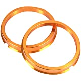 KYO-EI [ 協永産業 ] HUB CENTRIC RING 73mm/60mm 2個入り ツバ付 アルミ製/ゴールド U7360