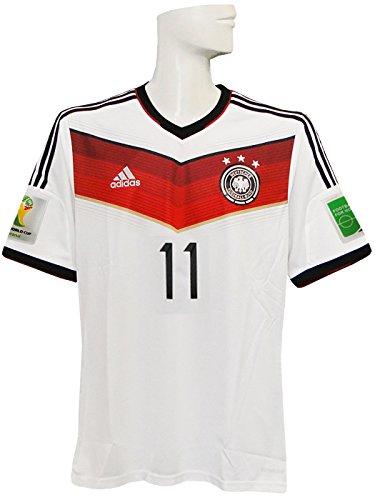 (アディダス) adidas 14 15ドイツ代表 ホーム 半袖 AE136 クローゼ ワールドカップバッジ付 フルマーキング仕様 G87445 XO
