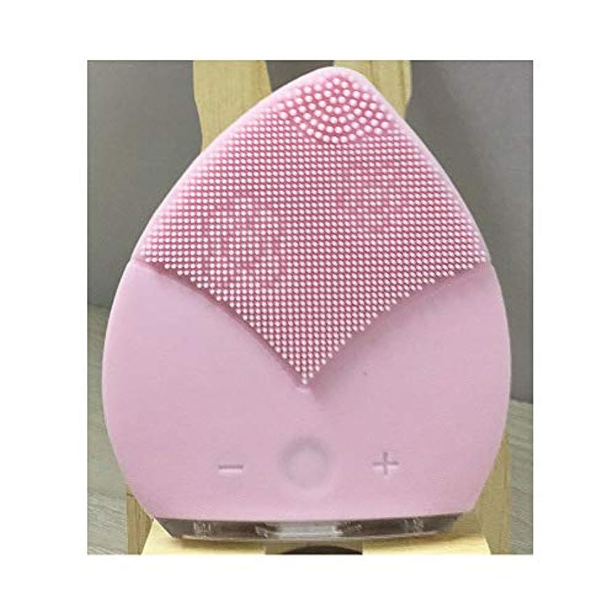 追加するレンダー不忠電動洗顔ブラシ - USB 充電 携帯用電動シリコンフェイスクレンジングブラシ 5速 全身防水 洗浄機毛穴ク リーナーホーム顔美容機器