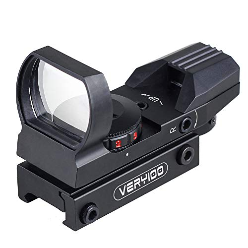Very100正規品 オープン式 ライフルサイトスコープドットサイト ダットサイト 照準器 20mm 対応 レッド グリーン