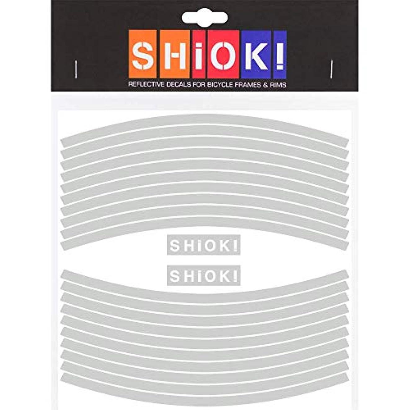 家マット持っているSHIOK - ストレートリム反射ステッカー - 自転車用安全デカール